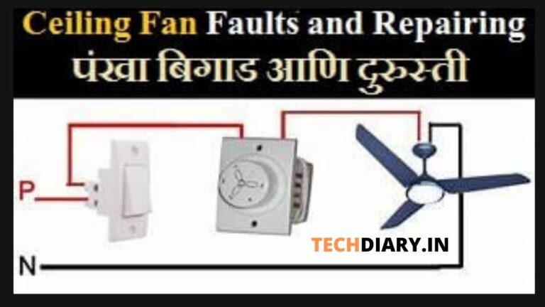 Ceiling fan faults and repairing   पंखा बिगाड आणि दुरुस्ती